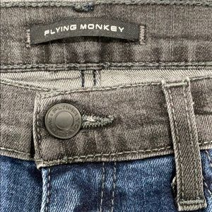 Flying Monkey blue & black denim jeans Size 27